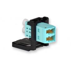Модуль LANS LC Duplex (OM3/4) для установки в розетку/патч-панель, чорний, Corning
