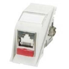 Модуль Euromod II 50 х 25 1xRJ45 10G, угловой, FTP, PowerCat 6, белый