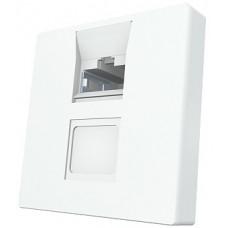 Модуль Mod Mosaic 45x45 мм, 1xRJ45, прямой, 568B, FTP, PowerCat 5e, белый