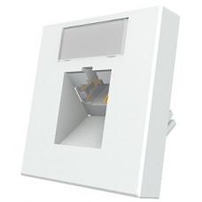 Модуль Mod Mosaic 45x45 мм, 1xRJ45, угловой, 568B, FTP, PowerCat 5e, белый