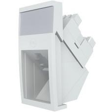 Модуль Mod Mosaic, 22.5x45 мм, 1xRJ45, угловой, 568A/B, UTP, PowerCat 6, белый
