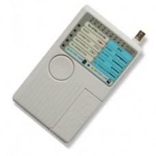 Тестер кабельный BNC, STP, Phone, USB