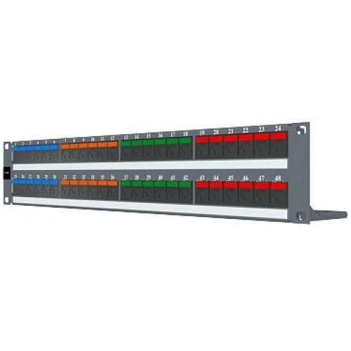 изображение Патч панель 48xRJ45 DG+, 568A/B, PowerCat 6, неэкранированная 2U, графит.цвета