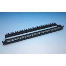 Патч-панель під 24 модуля Keystone (slim), 1U із заднім організатором