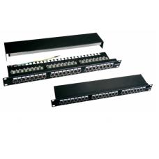Патч-панель 24-портовая, экранированная, черная, FTP стоечная 19