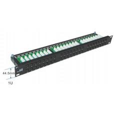 Патч-панель UTP, 5е, 48 портов 1U с держателем кабеля