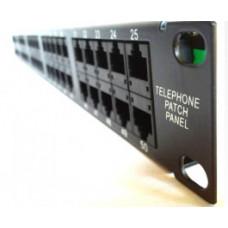 Патч-панель телефонная 50-портовая стоечная 19