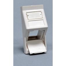 Вставка 50х25 под модуль Keystone, под наклоном 45 градусов, белая, EPNew