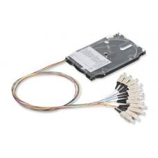 Комплект 12 кольрових пігтейлів SC/UPC MM (OM3) та сплайс-касета стандартна з тримачем 12 термоусад.гільз, Corning