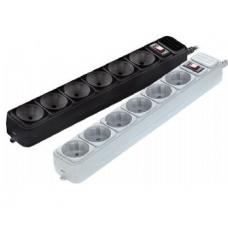 Мережевий фільтр Gembird сірий, 3 м кабель для ДБЖ (UPS), 5 розеток