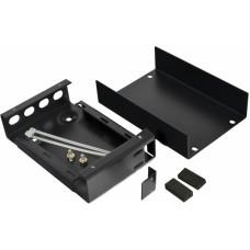 Волоконно оптичний бокс малий на 4FC/ST Simplex адаптера, 120х80х28 мм, чорний