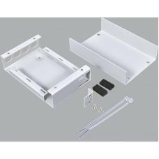 Волоконно оптичний бокс малий на 4FC/ST Simplex адаптера, 120х80х28 мм, cірий