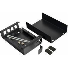 Волоконно оптичний бокс малий на 4SC Simplex адаптера, 120х80х28 мм, чорний