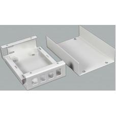 Волоконно оптичний бокс малий на 4SC Simplex адаптера, 120х80х28 мм, сірий
