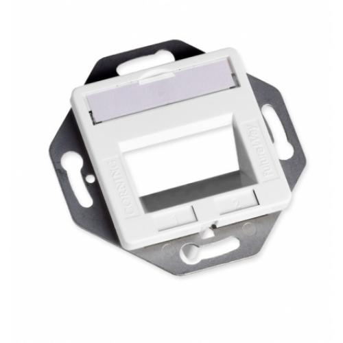 изображение Пластина на 2 модулі LANScape, похила, виступ всередину, біла RAL9010, Ge style, Corning