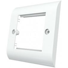 Рамка Evromod 50х50 настенной абонентской коробки SBX-00002-02, 1G, 2M, белого цвета