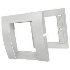 Рамка одинарная Contura 25х50, 1G, 2M, белого цвета