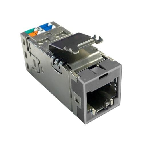 изображение Модульне гніздо NETCONNECT® RJ45 (8p8c) Cat.6A STP AMP-TWIST SLX6AS, grey