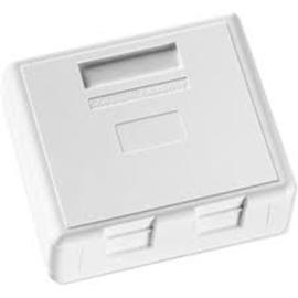 изображение Розетка зовнішня для 2-х модулів FutureCom, 75Х65, пряма, біла, Corning
