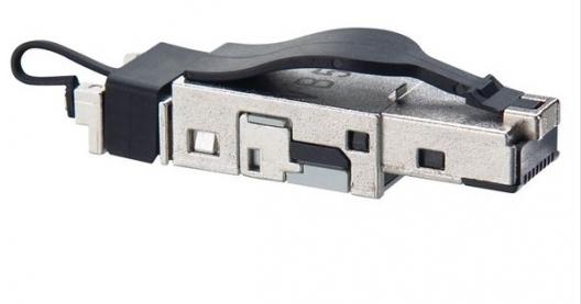 изображение Конектор RJ45, 4 пари, екранований, 10GBase-T,(AWG 22-26), Corning