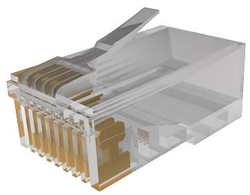 изображение Коннектор RJ45 UTP 5e WE8E, 1,27 мкм золота