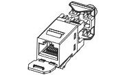изображение Модуль AMP RJ45 UTP SL-тип кат.5e с пылезащитной крышкой, белый