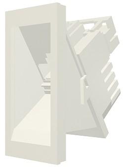 изображение Модуль Mod Mosaic 22,5x45 мм, 1xRJ45, угловой, 568B, FTP, PowerCat 5e, белый