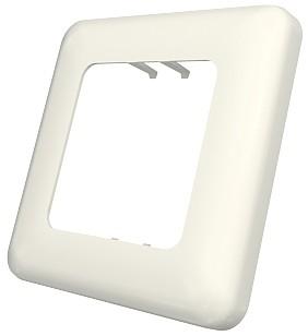изображение Рамка для коробки D, 80x80х10мм 1G, 2M с закругленными углами, белая