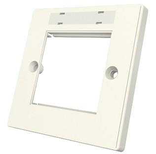 изображение Рамка Euromod 86х86х10мм, 1G, 2M, с элементами для маркировки, белая