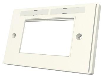 изображение Рамка Euromod 86х172х10мм, 2G, 4M, с элементами для маркировки, белая