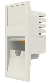 изображение Модуль Euromod 50 х 25, 1xRJ45, M1 прямой, UTP 5е, PowerCat, белый