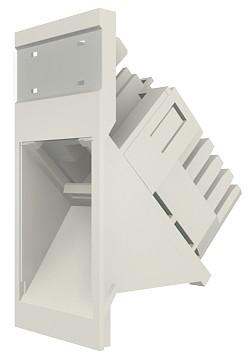 изображение Модуль Euromod 50 х 25, 1xRJ45, M1 угловой, UTP 5е, PowerCat, белый