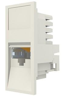изображение Модуль Euromod 50 х 25, 1xRJ45, M1 прямой, STP 5е, PowerCat, белый