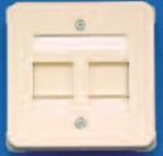изображение Розетка 2-порт. DIN 68x68 цвет белый (без рамки)
