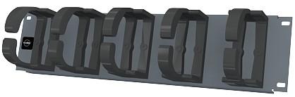 изображение Панель органайзер, 19 дюймов, 2U, графитового цвета