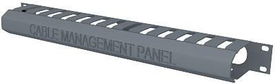 изображение Панель органайзер с крышкой, 19 дюймов, 1U, графитового цвета