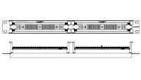 изображение XC патч панель 19 100-пар. (без 110ХС блоков)