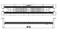 изображение 110CONNECT XC настенный блок на 100-пар. б/плинтов и б/ножек кат.5e