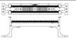 изображение 110CONNECT XC настенный блок на 100-пар без плинтов