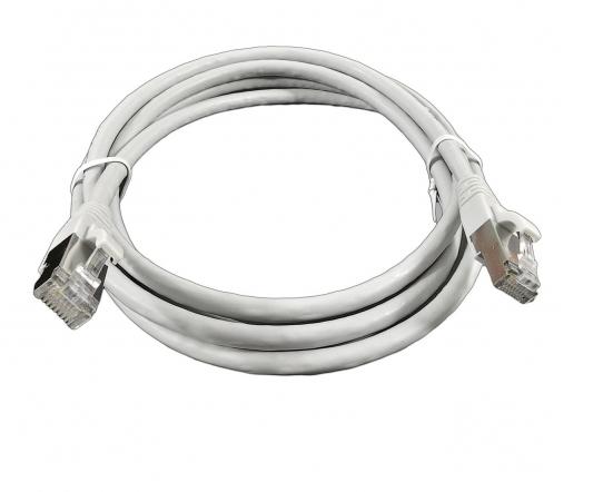 изображение Патч-Корд медный F/FTP кат. 6A, 26AWG, 10,0 м, LSZH, серый, EPNew