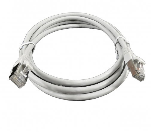 изображение Патч-Корд медный S/FTP кат.6А, 26AWG, 1,0 м, LSZH, серый, EPNew