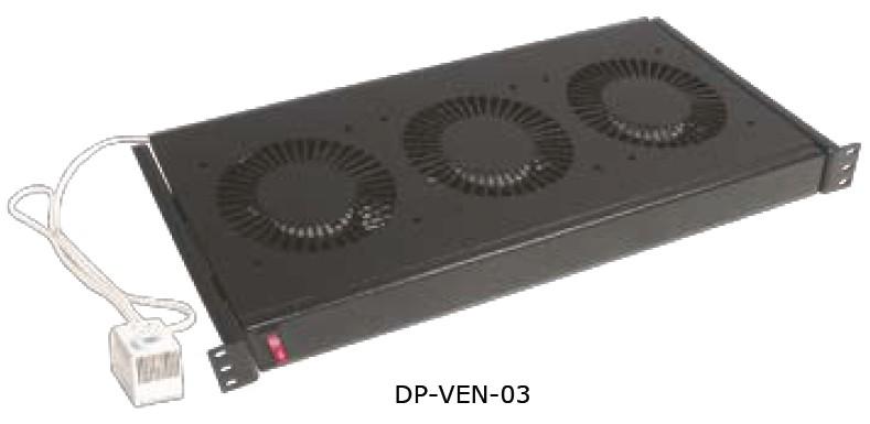 """изображение 19"""" вентиляционный блок, 3 вент., термостат, 220В"""
