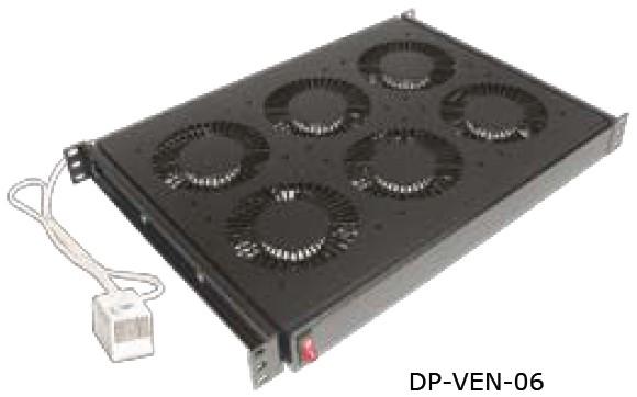 """изображение 19"""" вентиляционный блок, 4 вент., термостат, 220В"""