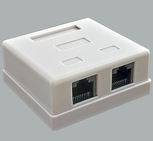 изображение Розетка 2 х RJ45 UTP, белая