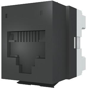 изображение Модуль DataGate 1xRJ45(WE8W), UTP PowerCat 5е, черный