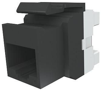 изображение Модуль Keystone 1xRJ45(WE8W), UTP 5е, стандартный, черный