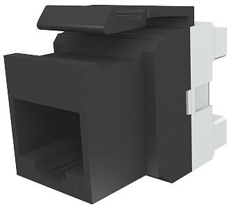изображение Модуль Keystone 1xRJ45 (WE8W), UTP, 568A/B, PowerCat 6, черный