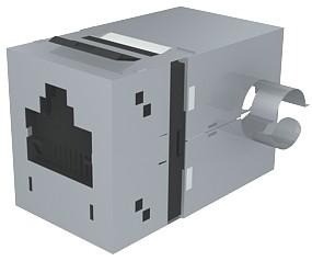 изображение Модуль Data Gate+ 1xRJ45 (WE8W), STP 360DEG, 568A/B, PowerCat 6, черный