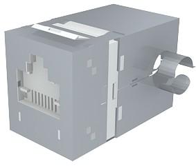 изображение Модуль Data Gate+ 1xRJ45 (WE8W), STP 360DEG, 568A/B, PowerCat 5e, белый