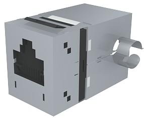 изображение Модуль Data Gate+ 1xRJ45 (WE8W), STP 360DEG, 568A/B, PowerCat 5e, черный